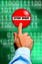 Stop spam Stock Photo