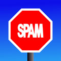 Stop Spam sign Stock Photos