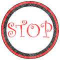 Stop stamp Royalty Free Stock Photo