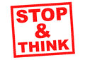 STOP & THINK Royalty Free Stock Photo