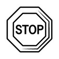 Stop traffic signal icon Royalty Free Stock Photo