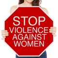 Stop Violence Against Women Stock Photography