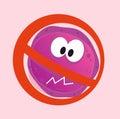 Stop virus - aids virus in red alert sign Royalty Free Stock Photo