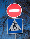 Stop and walk road traffic signs Royalty Free Stock Images