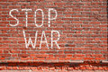 STOP WAR Royalty Free Stock Photo
