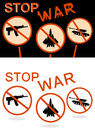 Stop war banner vector illustration Stock Image