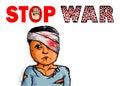 Stop War Sign Symbol Victim
