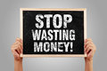 Stop Wasting Money Royalty Free Stock Photo