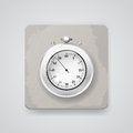 Stop watch vector icon illustration eps gradient meshes Royalty Free Stock Image