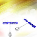 Stop watches illustrated in colourful sky background cloudy Stock Photography