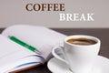 Stop work make coffee break enjoy it business Stock Photos