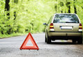 Stopped car Royalty Free Stock Photo