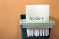 Stopping anxiety. Royalty Free Stock Photo
