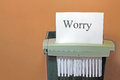 Stopping worry. Royalty Free Stock Photo