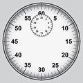 Stopwatch dial with numbers illustration Stock Images