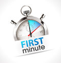 Stopwatch - first minute Royalty Free Stock Photo