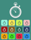 Stopwatch icon vector illustration flat style Royalty Free Stock Photo