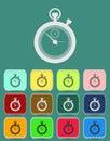 Stopwatch icon vector illustration flat style Royalty Free Stock Photo