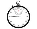 Stopwatch illustration on white background Royalty Free Stock Photo