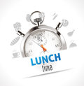 Stopwatch - Lunch time Royalty Free Stock Photo
