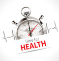 Stopwatch time for health concept Royalty Free Stock Image