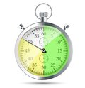 Stopwatch vector illustraion this is file of eps format Stock Images