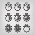 Stopwatch vector illustration authors in Stock Photography