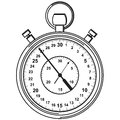 Stopwatch vector illustration eps Royalty Free Stock Photo