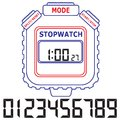 Stopwatch vector illustration eps Stock Images