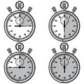 Stopwatch vector illustration eps Royalty Free Stock Image