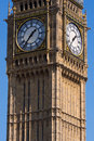 Stora ben clock tower london Royaltyfria Bilder