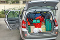 stock image of  Storage of a car full of family