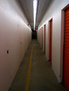 Storage corridor in a self facility Royalty Free Stock Photography