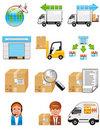 Storage and delivery icons Stock Photos