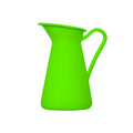Storage for liquids green jug ewer on a white background Stock Image
