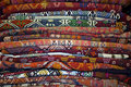 Storage room of a carpet merchant Royalty Free Stock Photography
