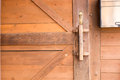 Storage room  wooden wall door brown background Royalty Free Stock Photo