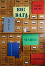 Storage and Search Big Data Royalty Free Stock Photo