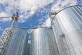 Storage silos agricultural cereal products Royalty Free Stock Image