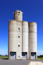 Storage silos vertical photo of for grain for agriculture Royalty Free Stock Photo