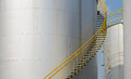 Storage tank industrial with ladder Royalty Free Stock Photography