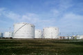 Storage tanks for petroleum products Royalty Free Stock Photo