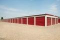 Storage unit facility units at a Royalty Free Stock Image