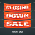 Store closing sale vector illustration, background