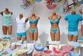 Store window mannequin underwear shop Royalty Free Stock Photos
