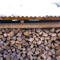 Stored firewood from a countryside family located in north east china Royalty Free Stock Photo