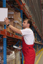 Storeroom worker Royalty Free Stock Photo