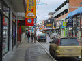 Stores in the main street of ushuaia argentina – april world s southernmost city on april argentina Stock Images
