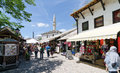 Stores in mostar bosnia and herzegovina may tourists look at the souvenir shops and local crafts on may bosnia and Royalty Free Stock Photos