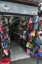 Stores and shops of beachwear and souvenirs in the thai resort town Stock Photography